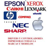 Drivers - Controladores Impresoras Todas Las Marcas