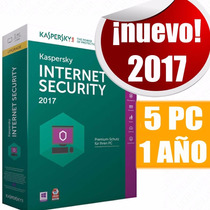 Licencia Kaspersky Internet Security 2017 5 Pc 1año Original
