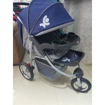 Carrinho Baby Happy 3 Rodas De Alumínio+bebe Conforto+frete