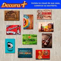 Placas Decorativas Bebidas. Em Pvc 2mm - Retrô Vintage