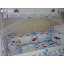 Kit Berço Personalizado 10pçs Carros Disney - Frete Grátis