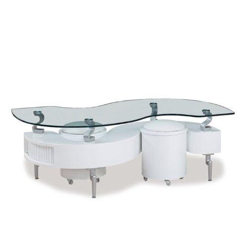 Mesa de centro moderna vidrio 2 mini taburetes hm4 for Centro de mesa de cristal