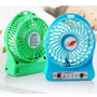 Ventilador Recargable Portatil 3 Velocidades Linterna