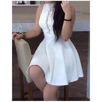 Vestidos Femininos Curtos Boneca Branco Com Tule Limone