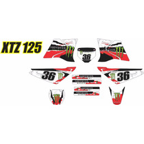 Kit Adesivo Lander Xtz 125 Tuning Trilha Mod Rally Moto Red