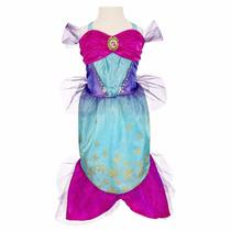 Vestido Disfraz Ariel La Sirenita Bellisimo Talle 2 A 4 Años