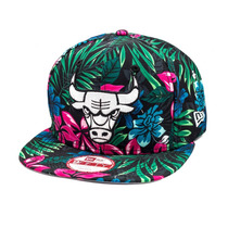 Boné New Era Snapback Original Fit Chicago Bulls Black Flora