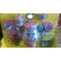 Kit 2p/boneca Cozinha Infantil Bule Falante+jogo D Chá 43 Pç