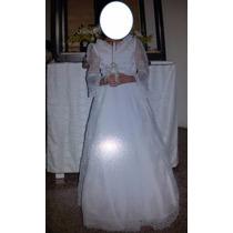 Vestido De Primera Comunion Blanco Con Piedras