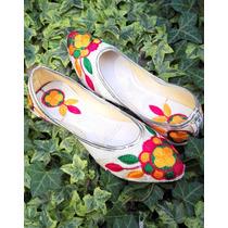 Zapatos Chinitas Ballerinas India, Hindúes Bordadas Talla 36