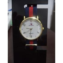 Relógio Feminino Tommy Coroa Redonda Dourada Visor Branco
