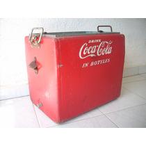 Antigua Hielera Coca Cola Decoracion Coleccion 50