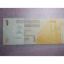 Billete Bono Lecop Cordoba 1 Peso Serie E