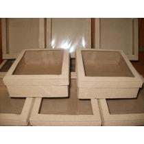 Cajitas De Carton Microcorrugado Con Visor 15x12x7. X 10 Uni