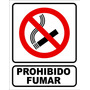 Cartel Prohibido Fumar 22x28 Material Pvc