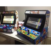 Bartop Arcade Retrô Malvadeza Pi3 13000 Jogos.