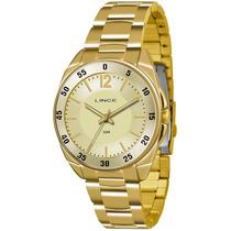 Relógio Lince Feminino Dourado Lrgk043l