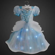Fantasia Vestido Cinderela C/ Luzes Disney 100% Original
