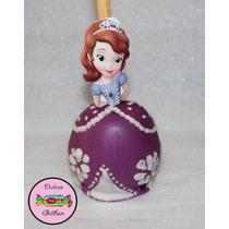 Manzanas Cubiertas Y Decoradas De Princesas De Disney Fiesta
