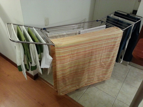 Tendederos de ropa plegable en aluminio en - Tendedero pared plegable ...