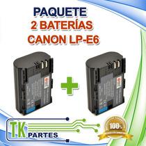 Kit Dos Baterías Para Canon Lp-e6 Eos 5d Mark Ii Eos 60d