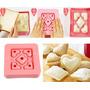 Forma Para Fazer Mini-sanduiche Formato Coração E Quadrado