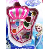 Kit Estojo De Maquiagem Infantil Disney Frozen