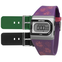 Relógio Mormaii Digital Kit Troca Pulseira Fzac/8k