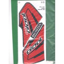 Kit Adesivos Honda Pop 100 2012 Preta