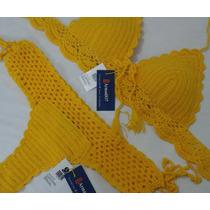 Vestido De Baño Bikini Tejido Crochet