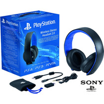 Headset Sony Gold Wireless Stereo 7.1 Original