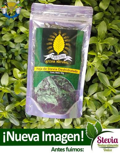 Hojas De Stevia Deshidratadas 100% Natural 30g - $ 50.00