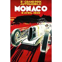 Lienzo Tela Poster Carrera Gran Premio De Mónaco 1930 70x50