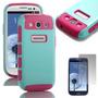 Estuche Dual Para Samsung Galaxy S3 Siii I9300 S301e Rosa Y
