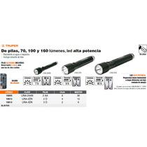 Linterna De Aluminio Con Luz Ajustable 3 Pilas D Negra