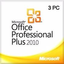 Office Professional Pro Plus 2010 Licencia Original X 5 Pc