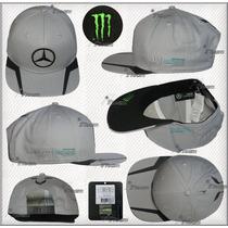 Gorra Lewis Hamilton Mercedes Amg Petronas Plana 2016 Gris