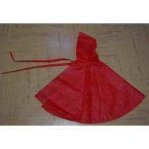 Capa /disfraz Infantil En Friselina De Caperucita Roja