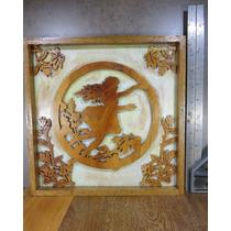 Eg Cuadrito Decorativo De Cedro Niña Victoriano