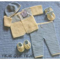 Ajuar, Tejido A Mano Para Recien Nacido. Crochet.