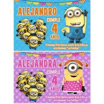 Invitaciones Mi Villano Favorito Minion Kit Imprimible