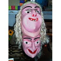 Mascara De Madera Tallada - Viejito Danza Antifaz