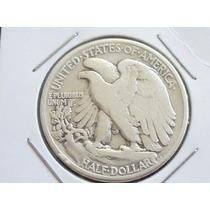 Raridade - Moeda De Prata Half Dollar U.s.a 1944