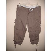 Pantalon Para Dama Talla S Color Cafe Tipo Pescador