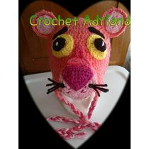 Gorro Pantera Rosa Crochet Tejido Bebés, Niños Y Adultos