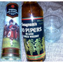 Whisky 100 Pipers 1980 Con Estuche Y Vaso