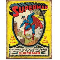 Poster Metalico Anuncio Lamina Retro Comic Superman No 1