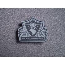 Distintivo Emborrachado Polícia Comunitária (pequeno)