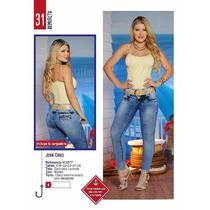 Jeans Mujer Dama Levantacola Blusas Bragas Jogger Drill Niña