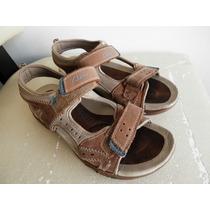 Zapatos Sandalias De Hombres Marrones Clark